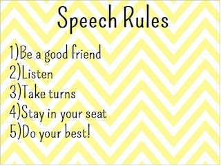 Free! Speech Rules printable from letstalkspeechtherapy!