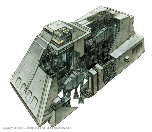 Ever wonder how the Empire got those AT-ATs to the surface of Hoth? Y-85 Titan AT-AT Dropship