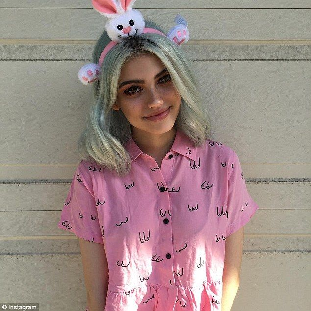 Doppelganger: Kelsey, pictured, is said to have the eyebrows of Lucy Hale and the pout of Kylie Jenner