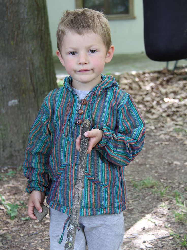 Children shirt longsleeve hood DAKOTA #Children's #cotton long sleeve #shirt with #hood and #pockets. Hand-woven in pure #cotton. Ideal for #spring and #summer, it can be used even on the warmest days of #autumn. www.lamamita.co.uk