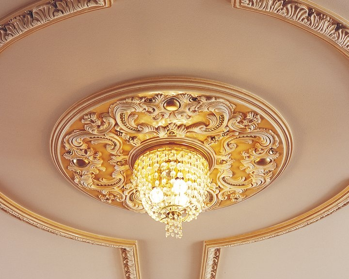 rosette of our office's ceiling
