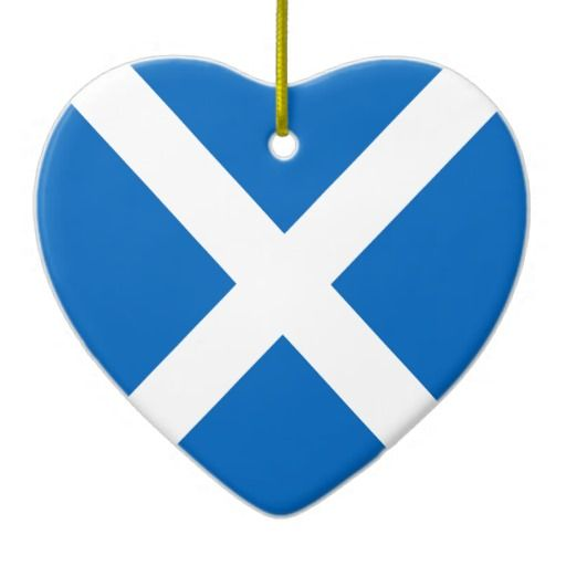 Scotland flag heart ornament