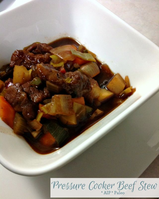 Pressure Cooker Beef Stew - adjust time for Instapot, this recipe uses stovetop pressure cooker