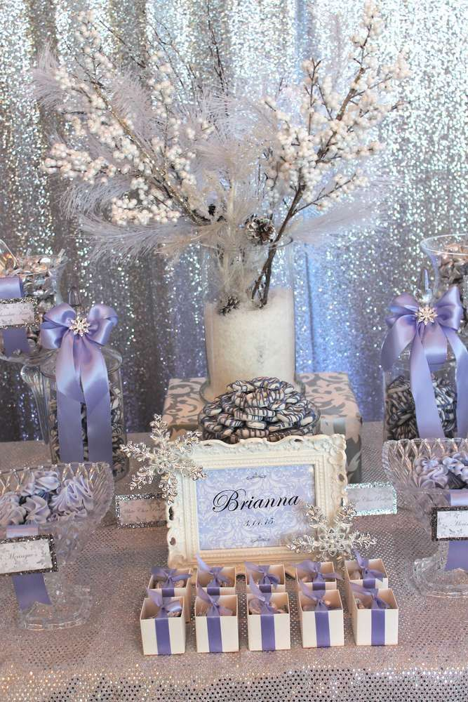Winter Quinceañera birthday party! See more party ideas at CatchMyParty.com!