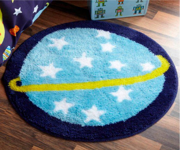 Outer Space Planet Rug Outer Space Planet Rug [] - £10.00 : Kool Kids Rooms, unique ideas for childrens bedrooms