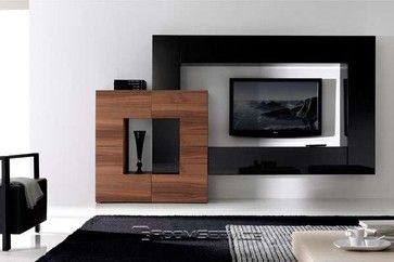 Gallery 128 Modern Wall Unit modern furniture (RoomService360)