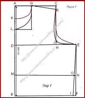 Vani's blog 1 : Method of stitching Katori Blouse