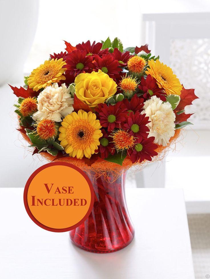 autumn shades vase