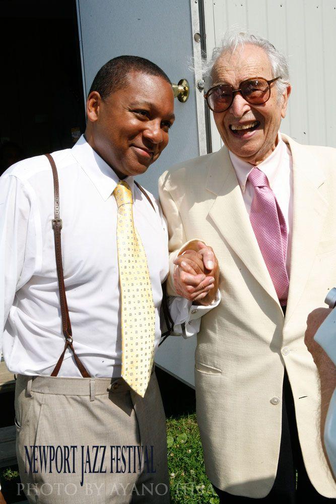 Dave Brubeck and Wynton Marsalis, Newport Jazz Festival 2010, Photo by Ayano Hisa
