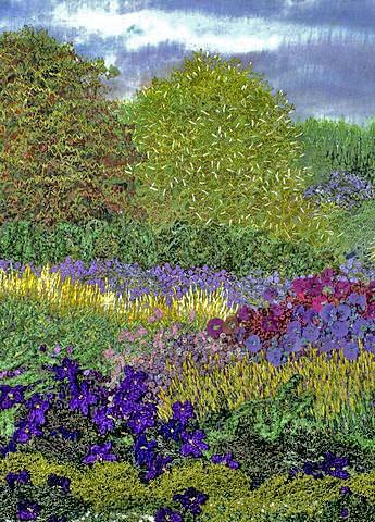 Gilda Baron Embroidered Landscape