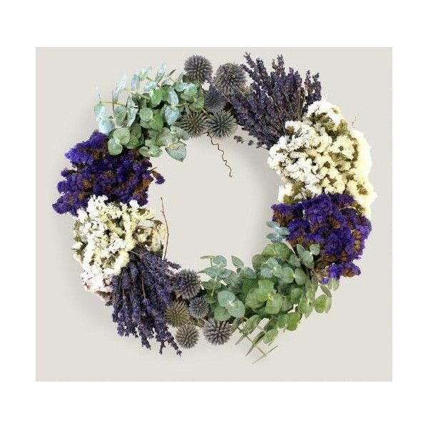 Cost Plus World Market Live Fall Lavender Wreath ($65) ❤ liked on Polyvore featuring home, home decor, eucalyptus wreath, fall home decor, lavendar wreath, fall wreaths and lavender wreath