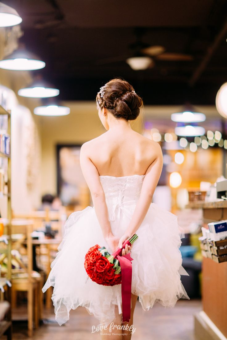Beautiful red rose bouquet. Wedding style shoot in Vancouver, BC, Canada.  Photography by Love Frankly Wedding photography