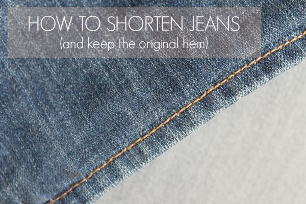 Learn how to shorten jeans that are too long with this quick and easy tutorial that shows how to keep the original distressed hem, making the fix invisible!