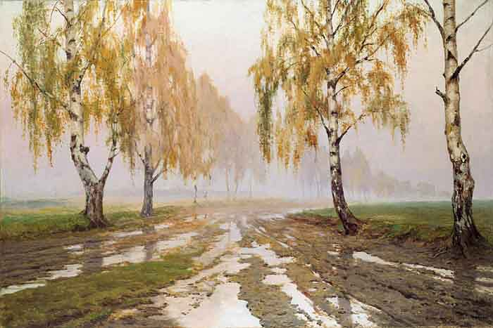 Landscapes of Poland on the paintings by Józef Rapacki [Polish, 1871-1929]