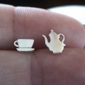 Sterling Silver Tea Party Earrings - Teapot and Teacup at fashionjunkie4life.com. 10% discount for Pinterest users. Coupon code PIN10.