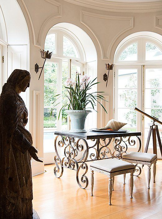 Amazing Tara Stood A Statue From Avignon (u201cprobably Centuryu2014itu0027s Worm Eaten And  Petrified In The Back,u201d She Says) By The Living Room Windows, Which Look  Out On A ...