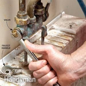 Photo Gallery Website Fix a dripping laundry faucet by replacing the faucet washer or the valve stem O ring You can replace both in ten minutes with a wrench and screwdriver
