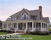 Country Farmhouse with Wrap-around Porch