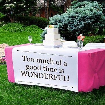 Custom Table Runner #personalizedtablerunner #weddingtable #wedding #weddingtablerunner #tablerunner #personalizedwedding #weddingideas www.MarilynsKeepsakes.com