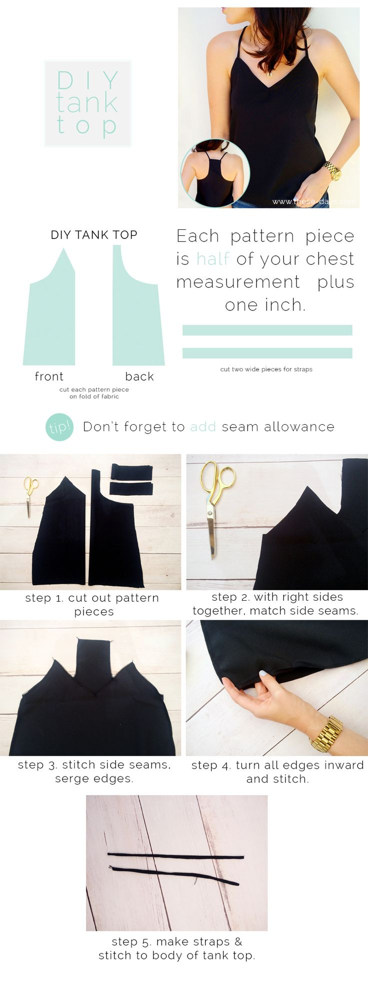 DIY tank top                                                                                                                                                                                 More
