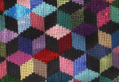 Amish quilt in scrap bag needlepoint