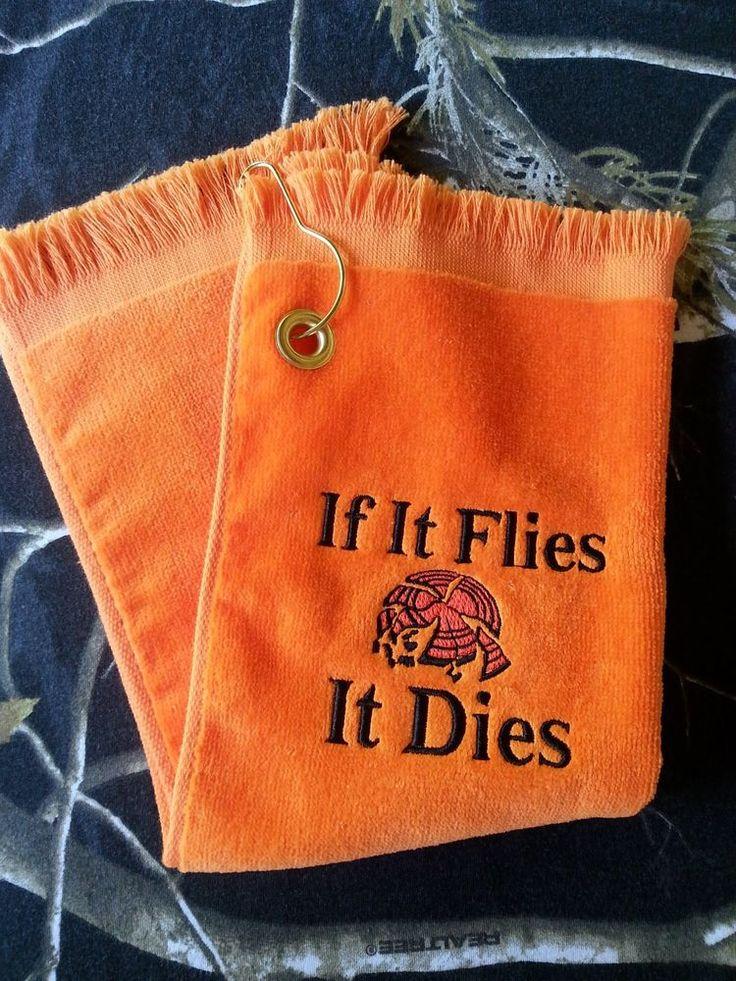 Skeet Trap Sporting Clays Shooter Shooting Towel Orange #Orange                                                                                                                                                                                 More