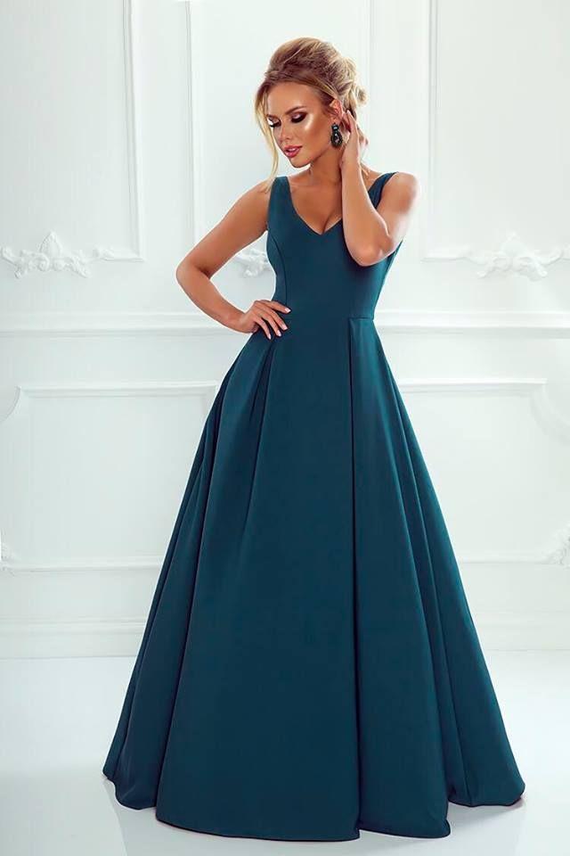 Sukienka Dluga Jessica Ciemna Zielen Gowns Dresses Gowns Fashion