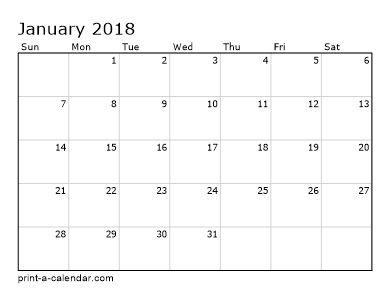 Make your own 2017, 2018, or 2019 printable calendar PDF.