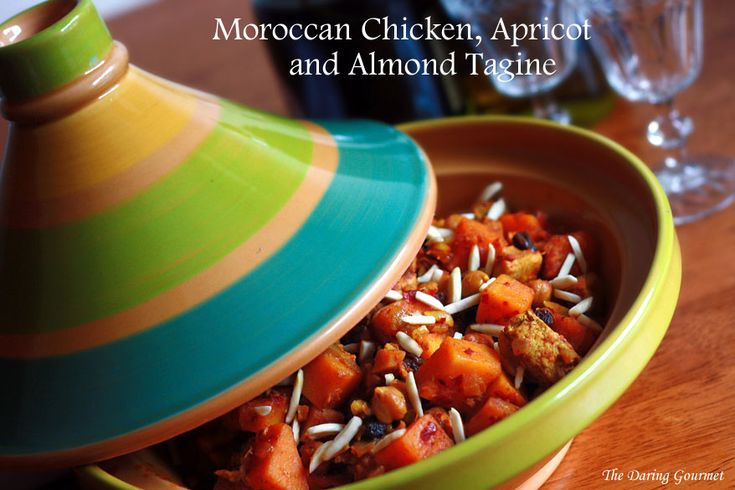 Moroccan Chicken, Apricot and Almond Tagine