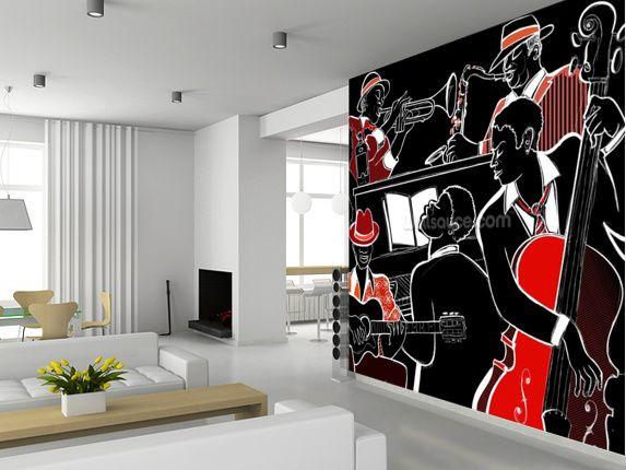 Jazz Band Wall Mural
