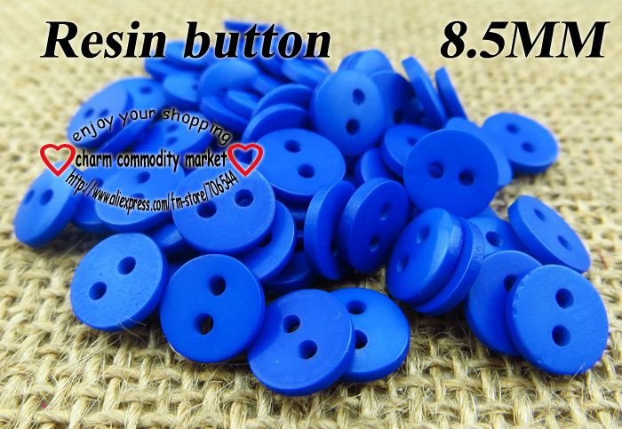 300pcs 8.5MM  jewelry blue Resin coat  button sweater for sewing buttons decoration craft R-045-1 $2,98