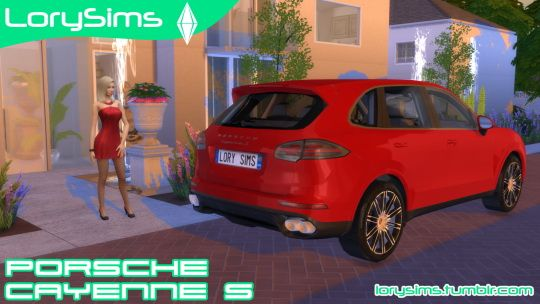 Lory Sims: Porsche Cayenne S • Sims 4 Downloads  Check more at http://sims4downloads.net/lory-sims-porsche-cayenne-s/