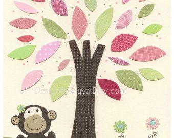 * Vivero decoración y pared arte original para la habitación de bebés y niños! Este arte de vivero dulce se verá perfecto en la pared de su pequeñín