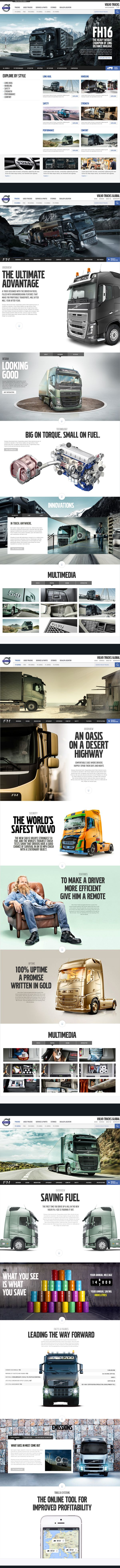 Taking what would otherwise be a boring industrial website and making it look sexy - Volvo Trucks does an incredible job. #webdesign #industrial #inspiring