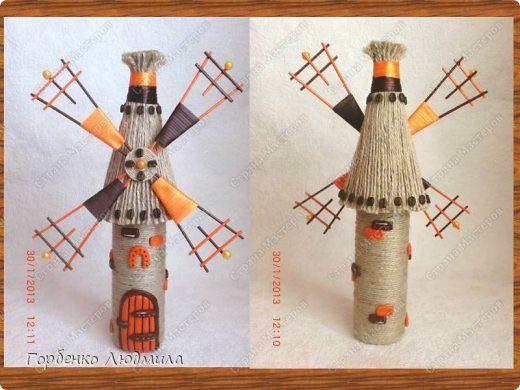 Представляю на Ваш суд еще одно мое оранжево-кофейное творение!!!Очень надеюсь,что моя мельница Вам приглянется  и пригодится мастер-класс))) фото 15