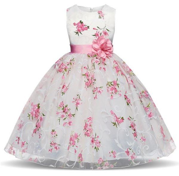 Baby Flower Girl Dress kid Tutu Formal Party Gowns Princess Bridesmaid Dresses