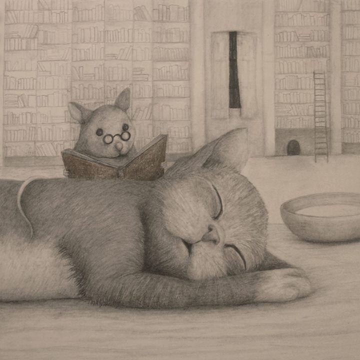 Lisa Andrea What better way to get to the cat nap stage! Have a mouse read you a story!