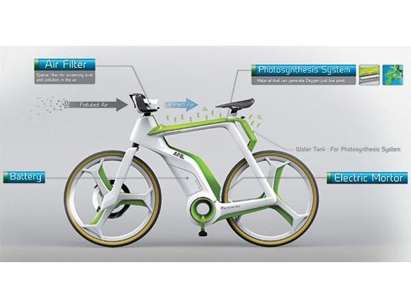Pour rouler encore plus écolo, optez pour un vélo purificateur d'air