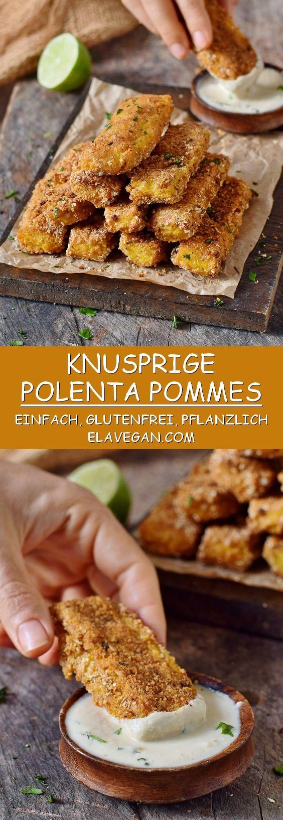 Knusprige Polenta Pommes mit einem leckeren Cashew…
