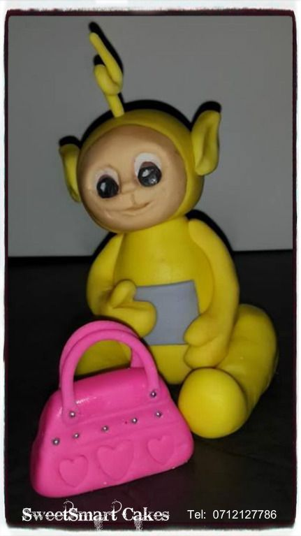 Large fondant Telly Tubbie @ R85 For more info & orders, email SweetArtBfn@gmail.com or call 0712127786, WhatsApp 0646446495