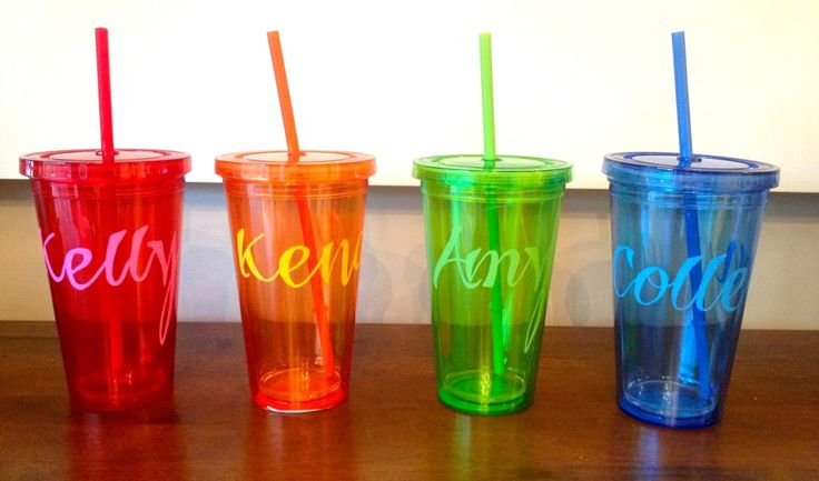 DIY party favors for under $3 each! Custom drink tumblers. Perfect for a summer pool party or bachelorette. Margaritas never looked so good.
