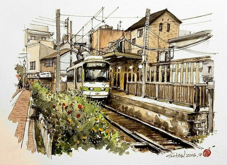 Best Architectural And Urban Sketches Images On Pinterest