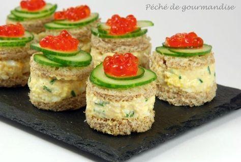 Mini sandwiches au crabe Plus