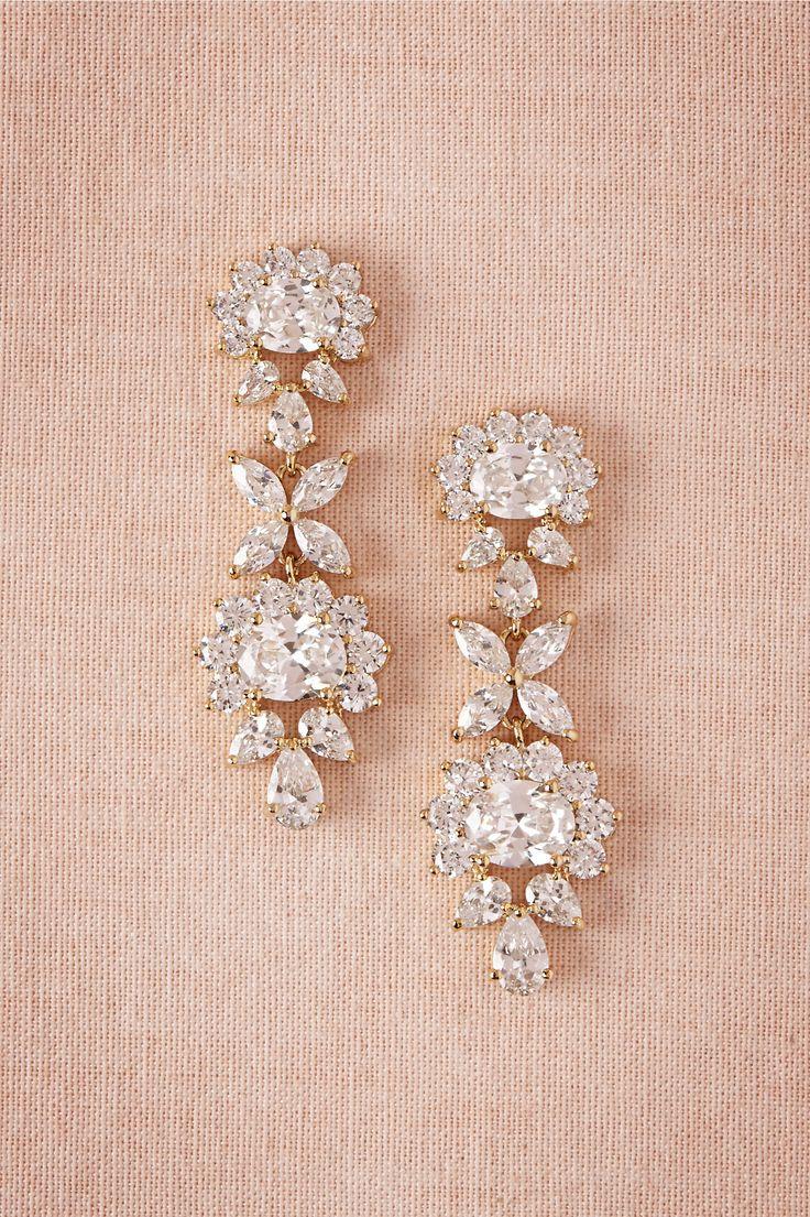 Eloise Crystal Drops in Bride Bridal Jewelry Earrings at BHLDN