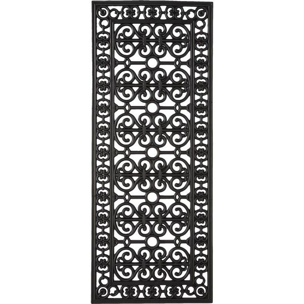Smith Amp Hawken Decorative Black Rubber Door Mat 27