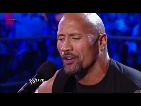 The rock sings and disses john cena raw march 2012