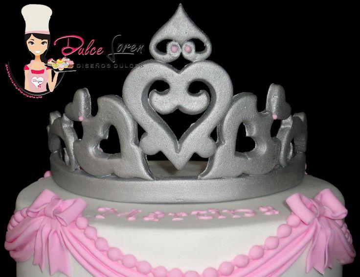 #princesa #corona #blancoyrosa #drapeado