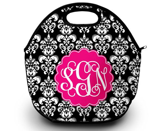 Lunch Bag Monogrammed Lunch Box Monogrammed Lunch Bag