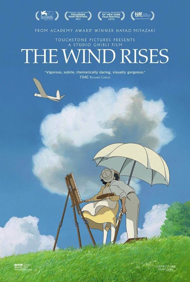 The Wind Rises (English language version) plays 11am Monday 6th and 1.25am Sunday 12th April on Film4