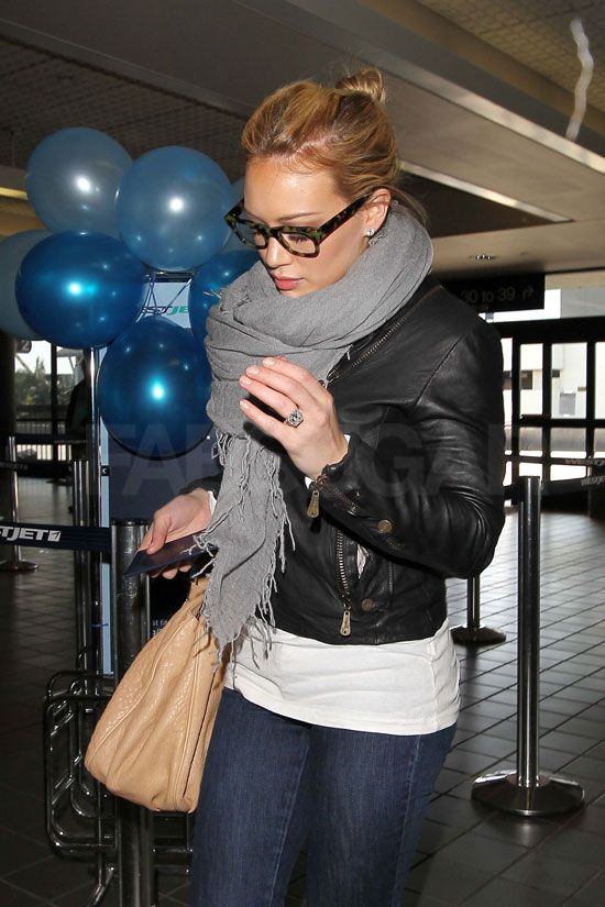 Hilary Duff airport style - plus her amazing engagement ring